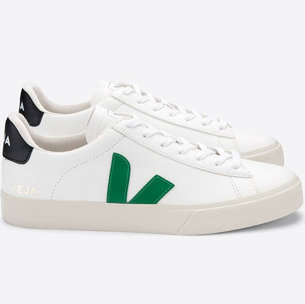 Sneaker Campo Leather Extra White/Emeraude/Black