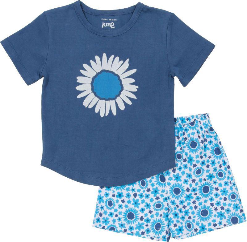 Kurzer Mädchen-Schlafanzug in Blau
