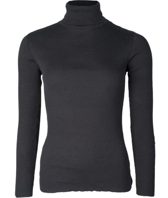 Basic Rollkragen-Pullover für Damen raven