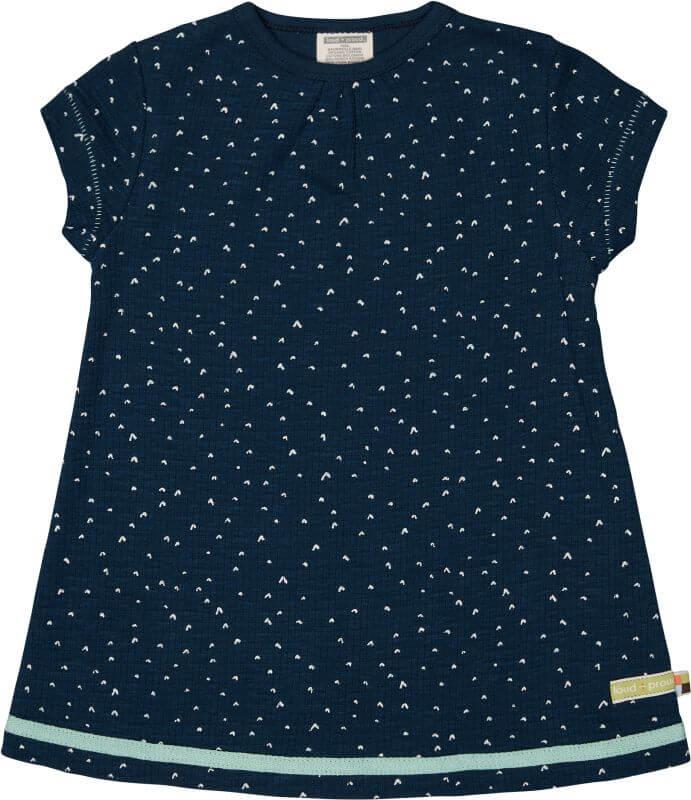 Kurzarm-Kleid mit Waffel-Struktur ultramarin