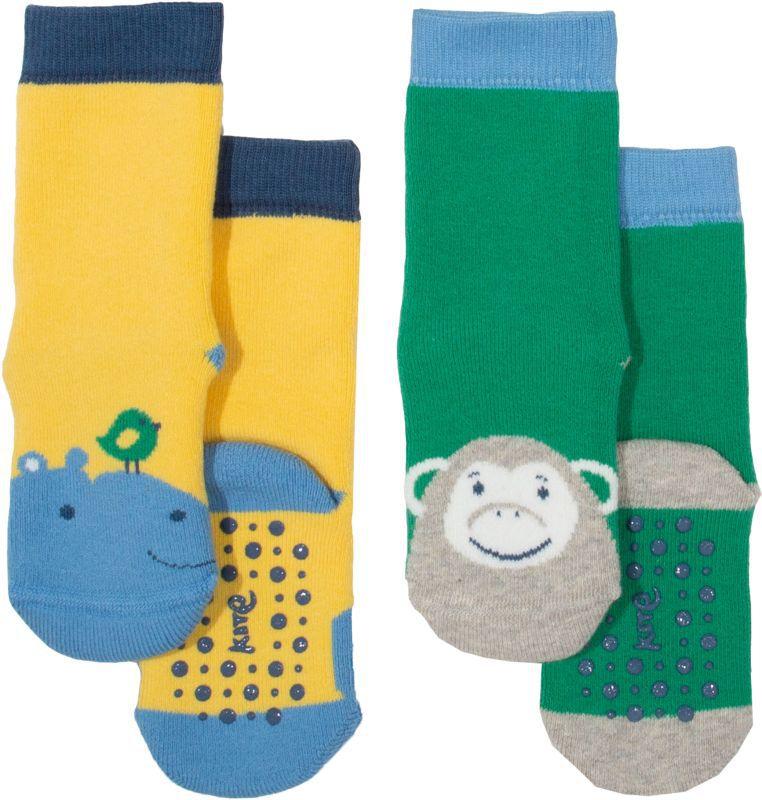 Antirutsch-Socken im Doppelpack mit Tieren