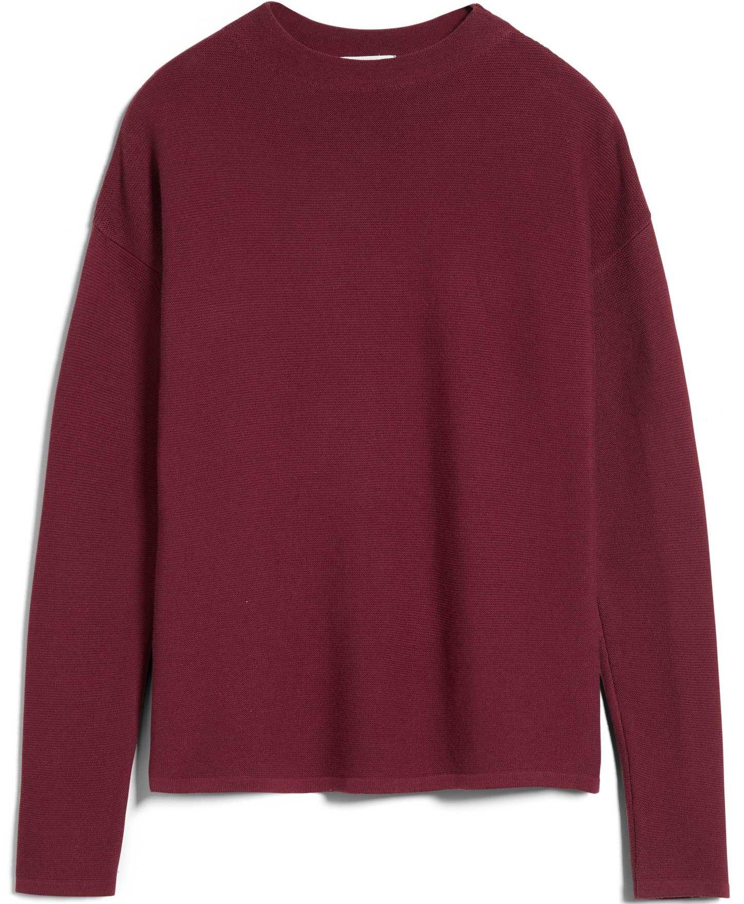 Strukturierter Damen-Pullover MEDINAA ruby red
