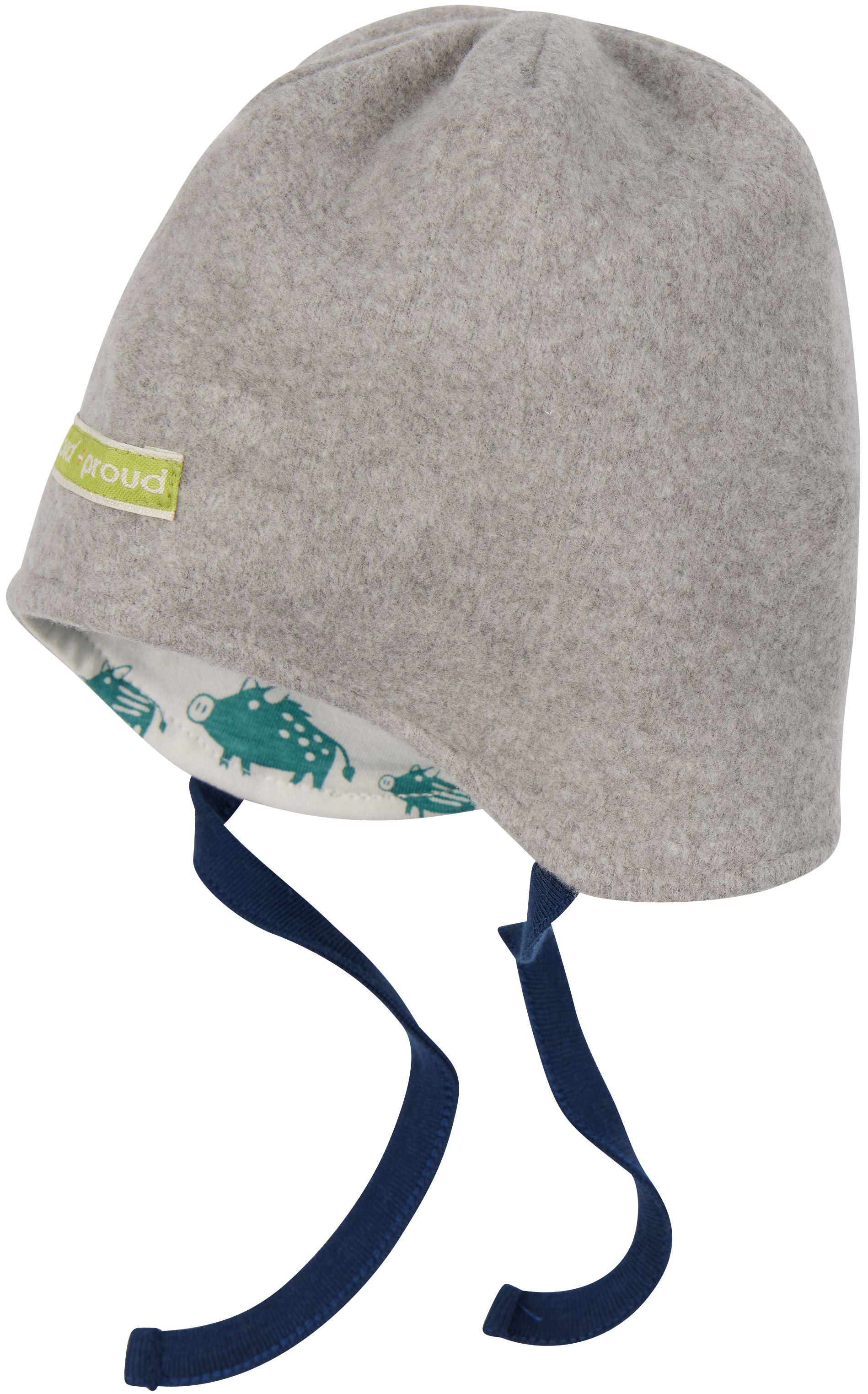 Weiche Fleece-Wende-Mütze für Kinder Grey
