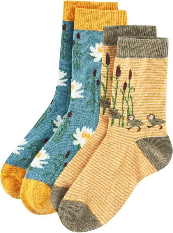 Socken mit niedlichen Enten im 2er-Pack