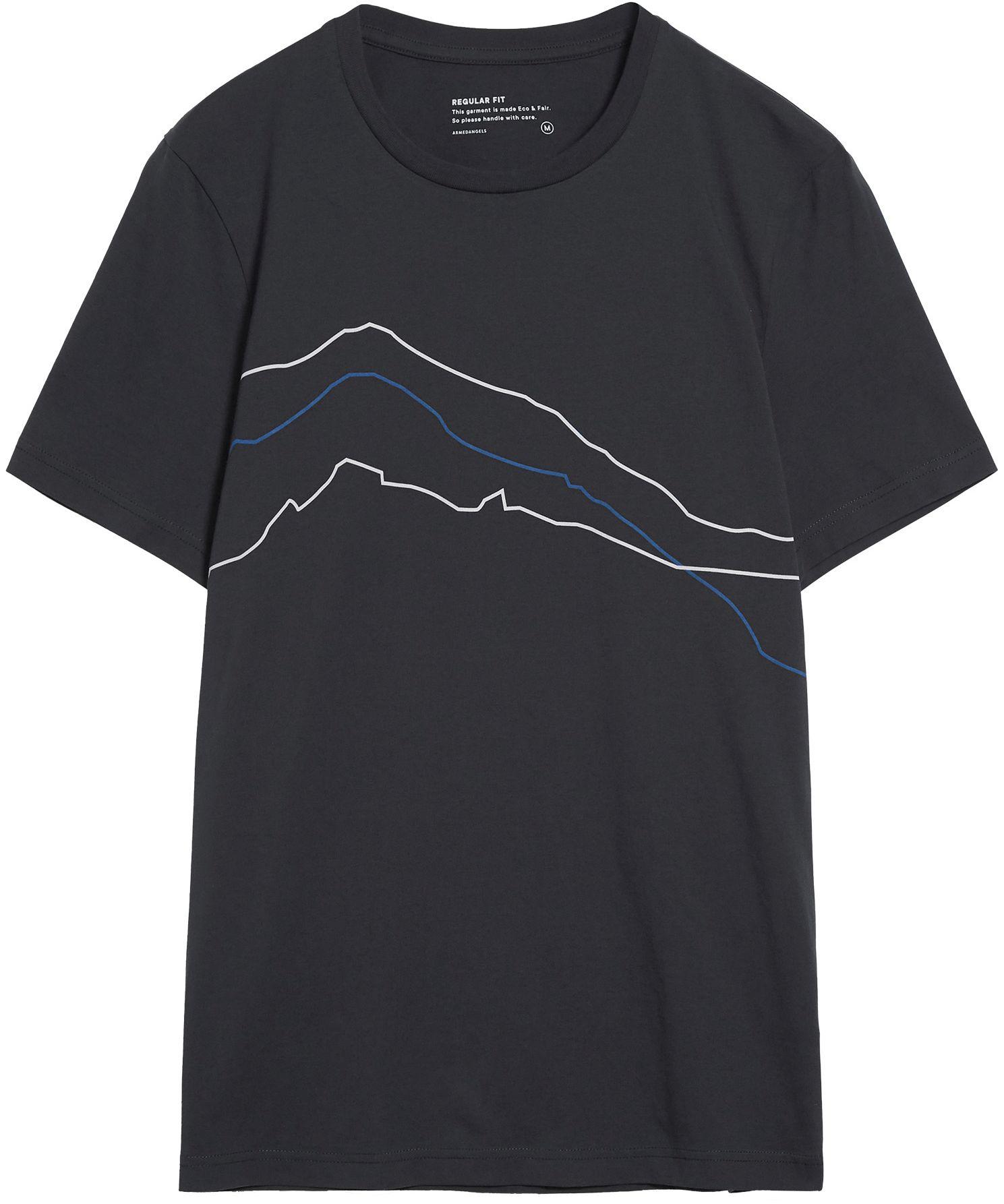 Herren-Shirt JAAMES MOUNTAIN LINES acid black
