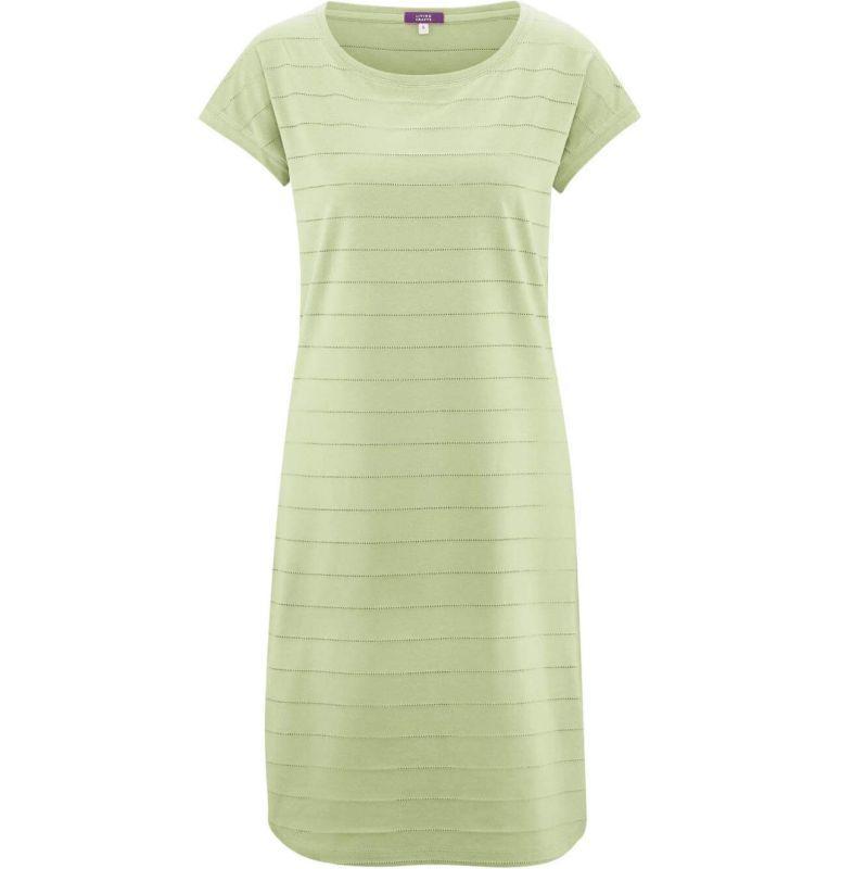 Kurzarm-Nachthemd mit Lochmuster in milky green