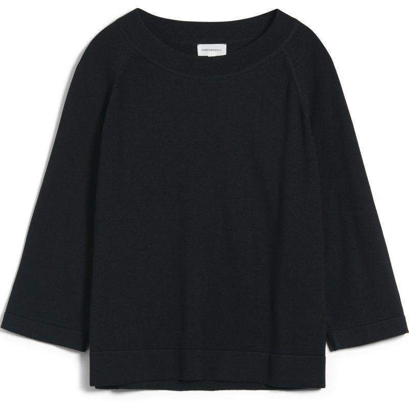 Oversized Damen-Strickpullover JAPAANDI black