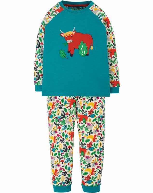 Zweiteiliger Schlafanzug mit Hochlandrind
