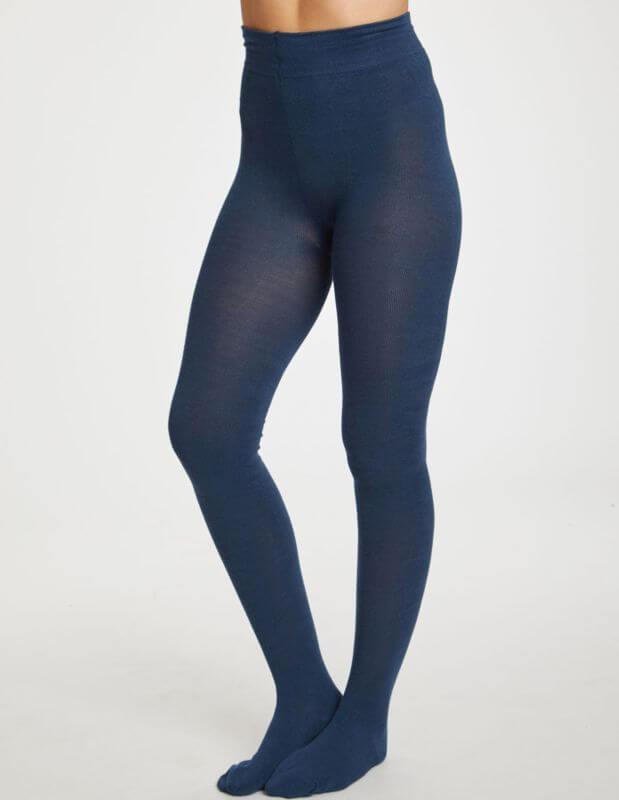 Weiche Bambus-Strumpfhose petrol blue