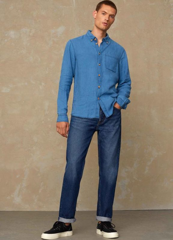 Straight-Fit Jeans  KONG - Pure Indigo Worn