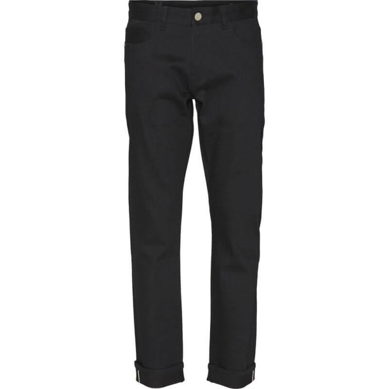 Straight Herren-Jeans OAK raw black selvedge
