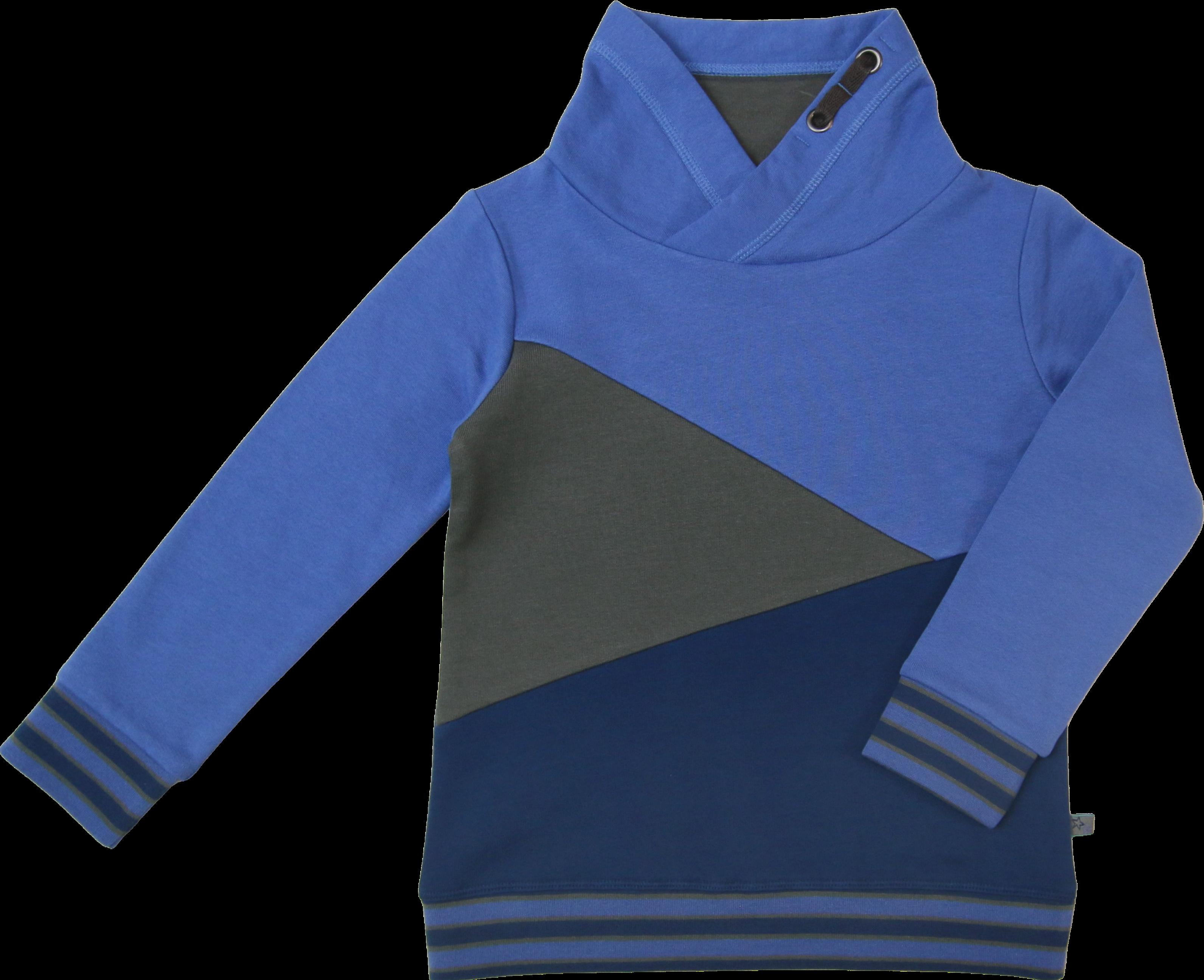 Kinder-Sweatshirt Colourblock tintenblau-himmelblau