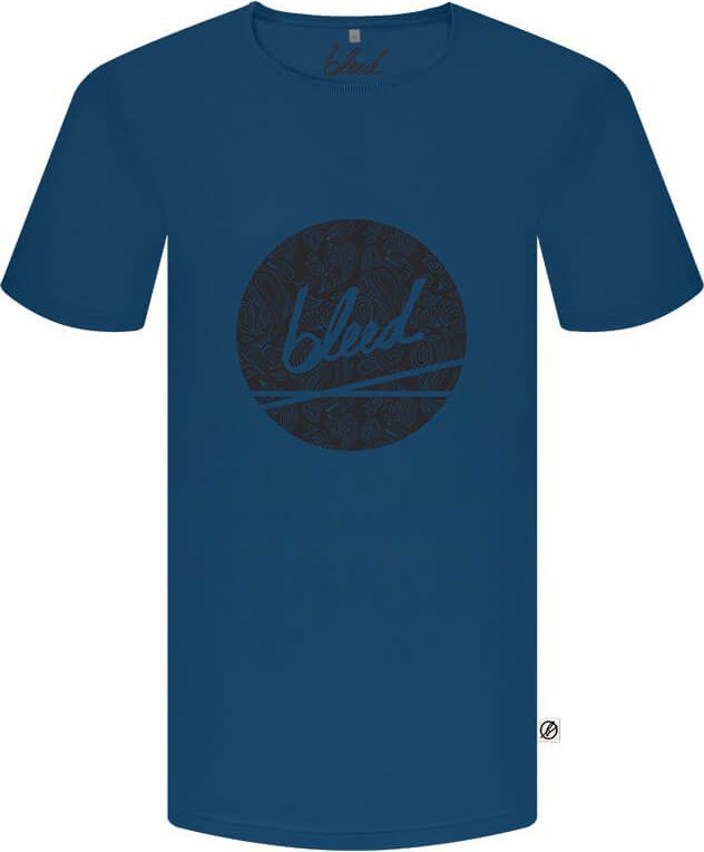 Blaues T-Shirt mit Paisley-Logo