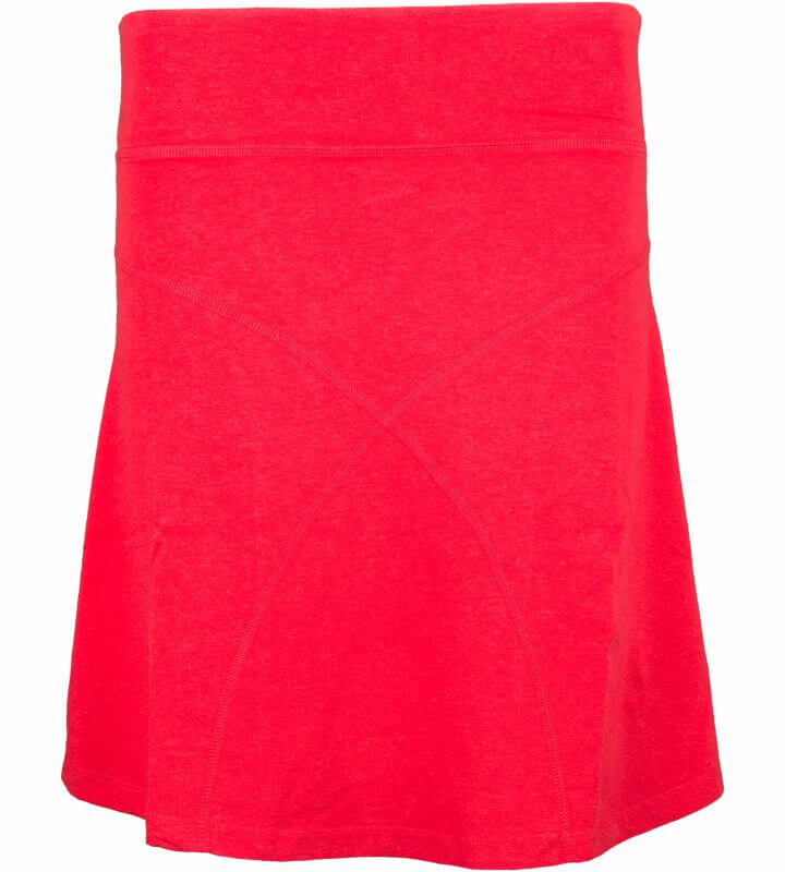 Bequemer Rock Daily Skirt in Rot