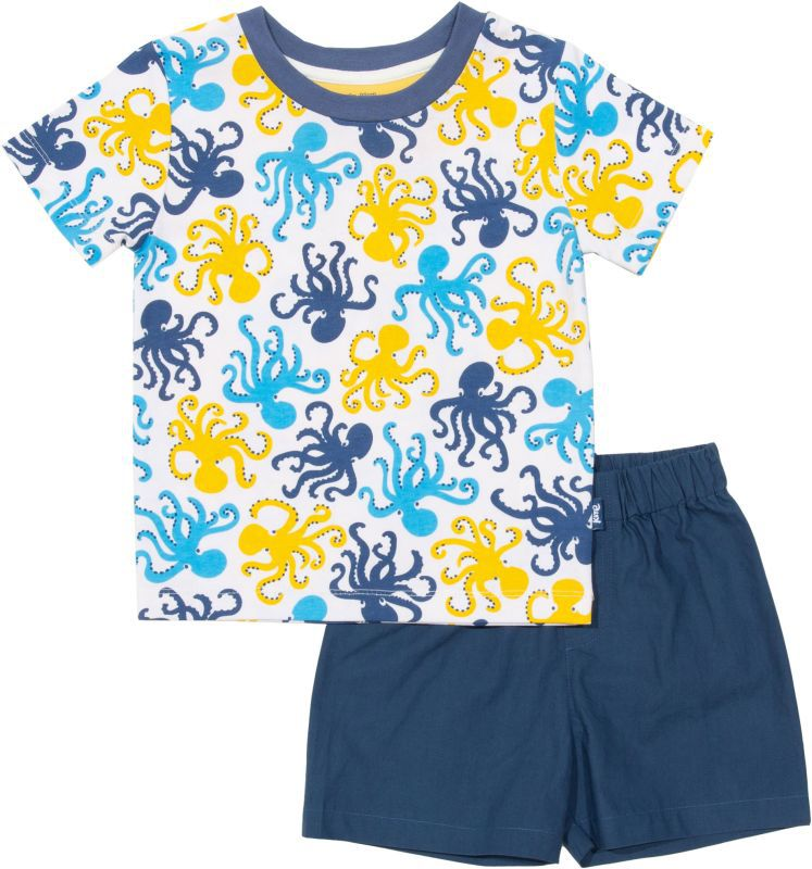 Kurzer Jungs-Schlafanzug mit Oktopus-Print