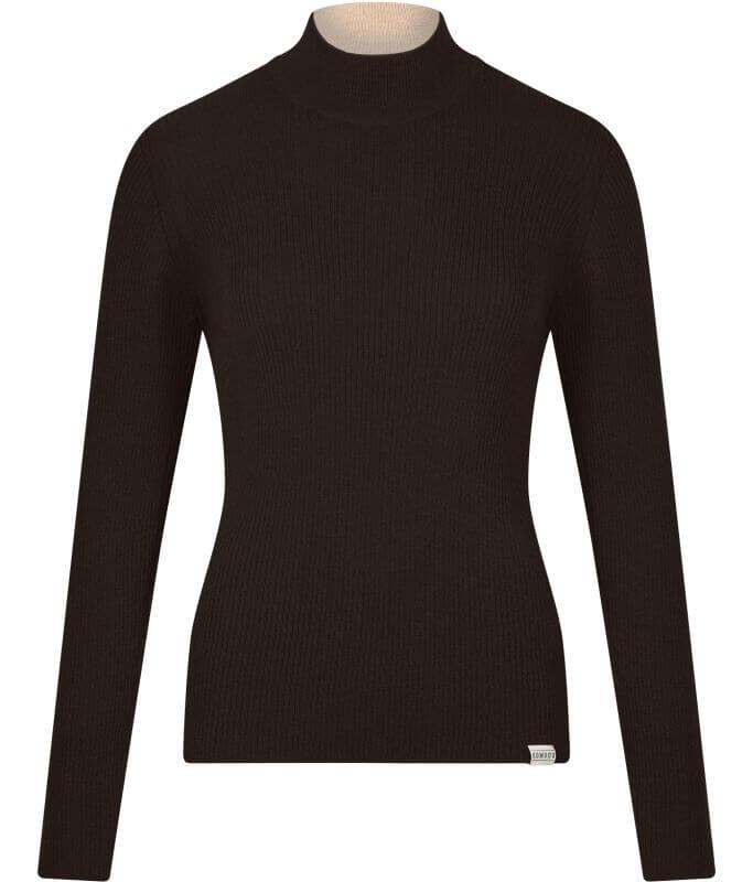 Schwarzer Feinstrick-Pullover ARI (100% Wolle)