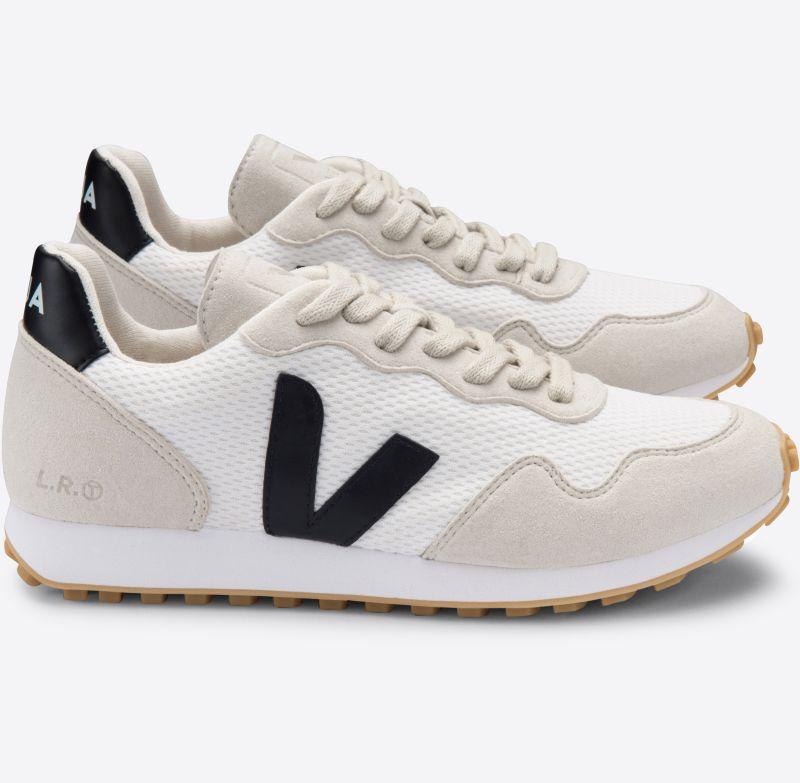 Vegane Herren-Sneaker SDU REC Alveomesh white black natural