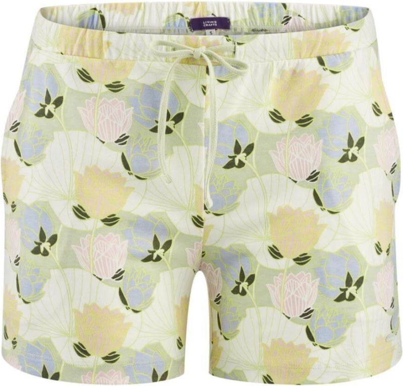 Kurze Schlaf-Shorts mit Lotusblüten in lotus