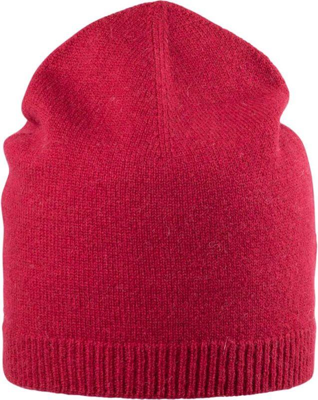 Weiche Damen-Beanie in Rot