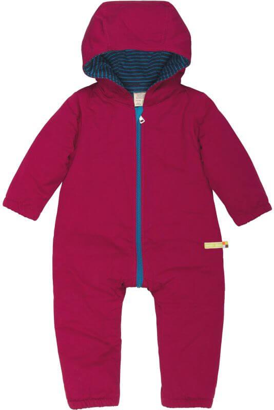 Wattierter Baby-Overall in Purpurrot