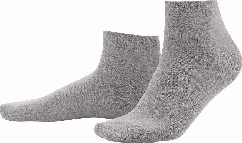 Graue Sneaker-Socken im Doppelpack