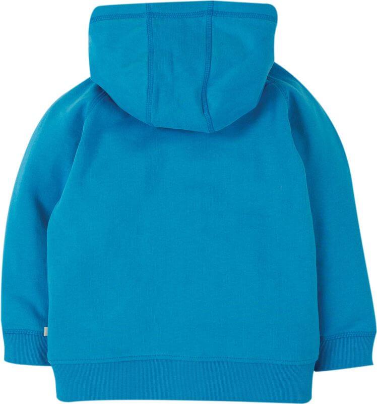 Blaue Zip-Jacke mit lustigem Hummer