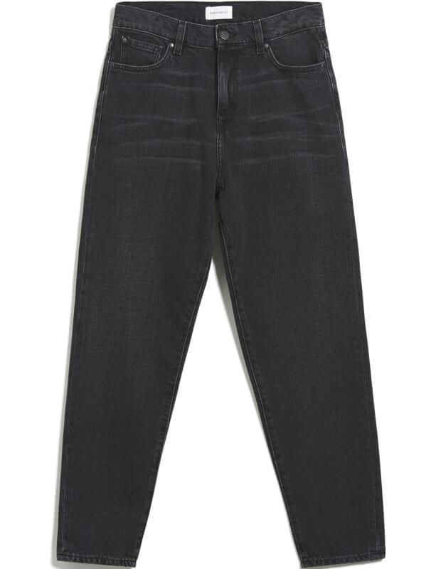 Vegane Jeans Mom Fit MAIRAA washed down black