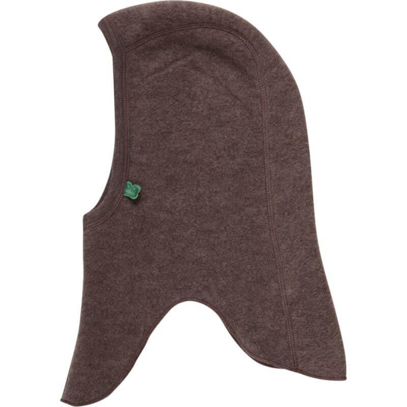 Braune Fleece-Schlupfmütze (100% Wolle)
