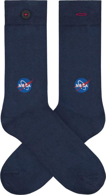 Dunkelblaue Socken mit NASA-Logo-Stickerei