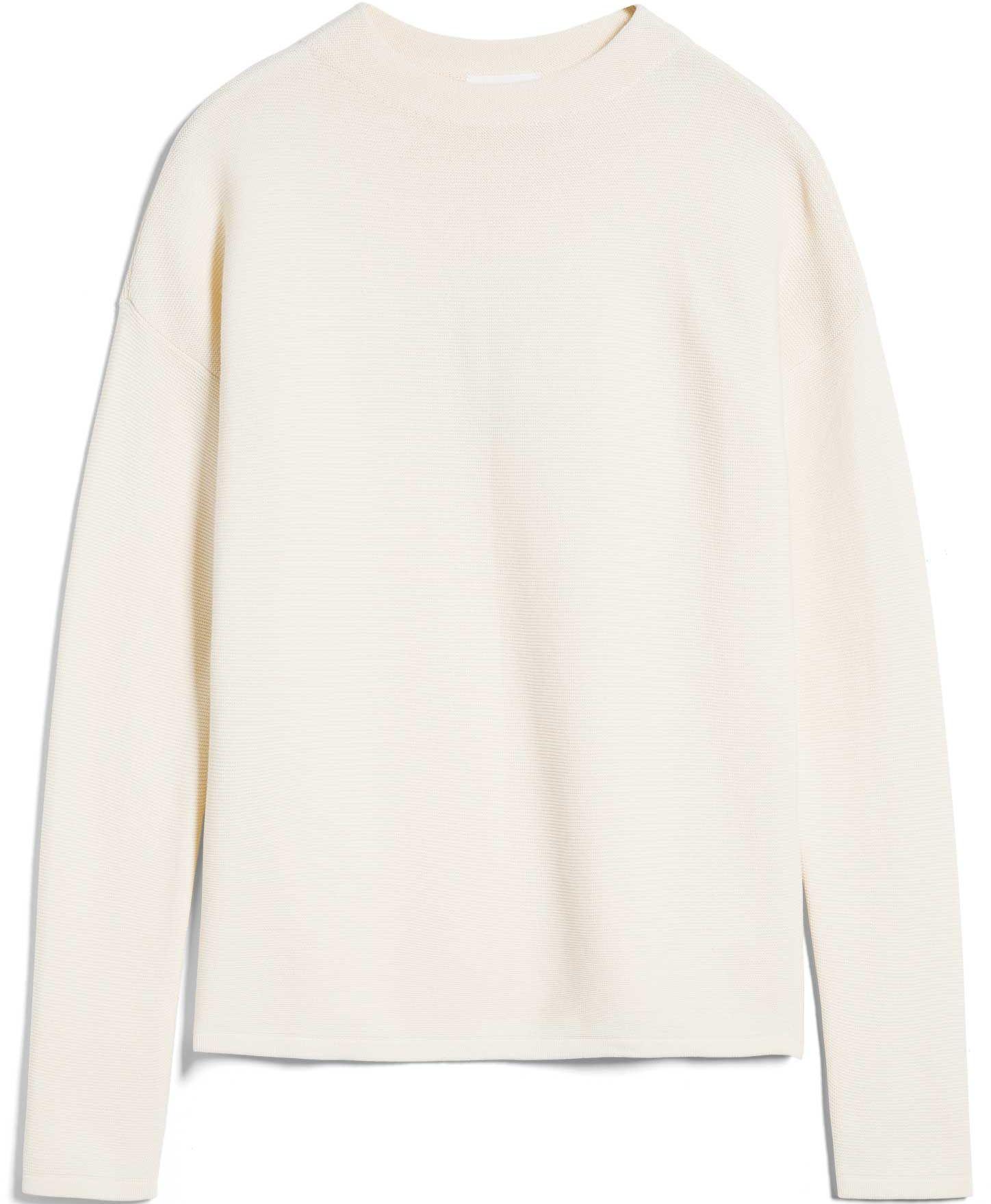 Strukturierter Damen-Pullover MEDINAA oatmilk