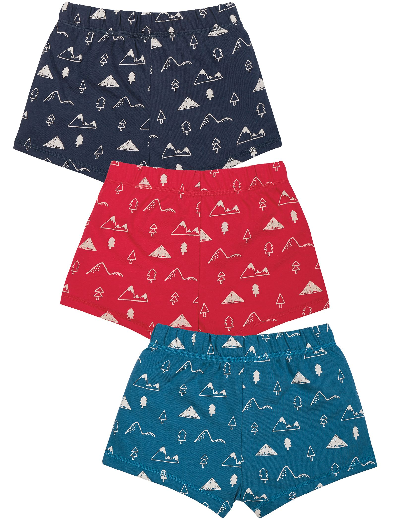 Jungs-Shorts im 3er-Pack mit Natur-Print