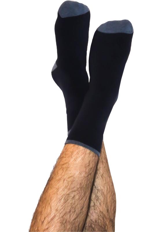 Weiche Frottee-Socken dunkelblau