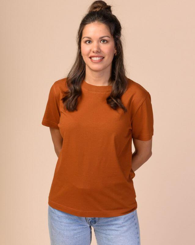 Basic Damen-Shirt KHIRA rust