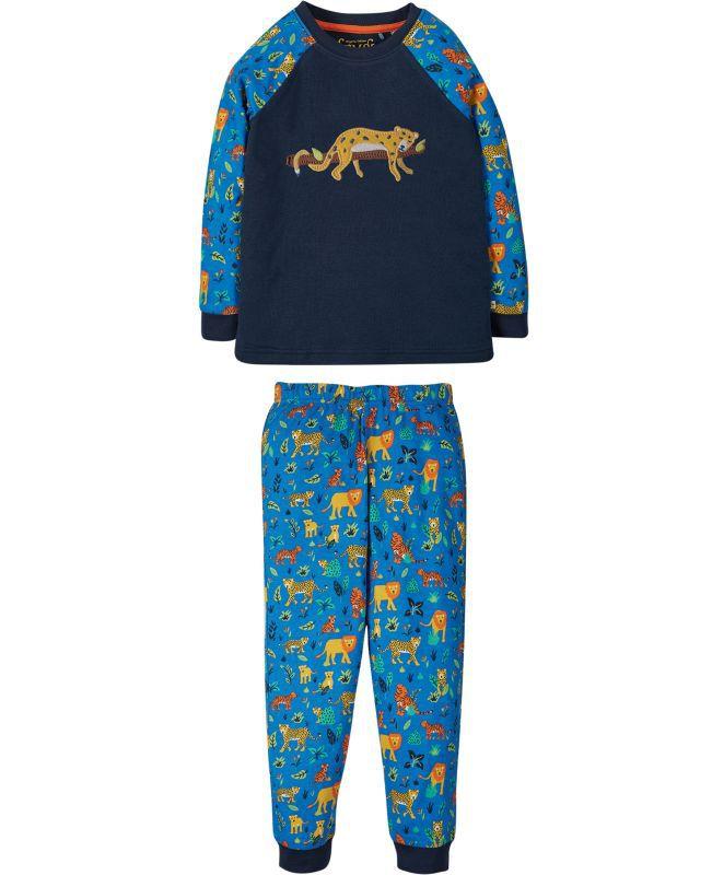 Zweiteiliger Schlafanzug mit Leopard