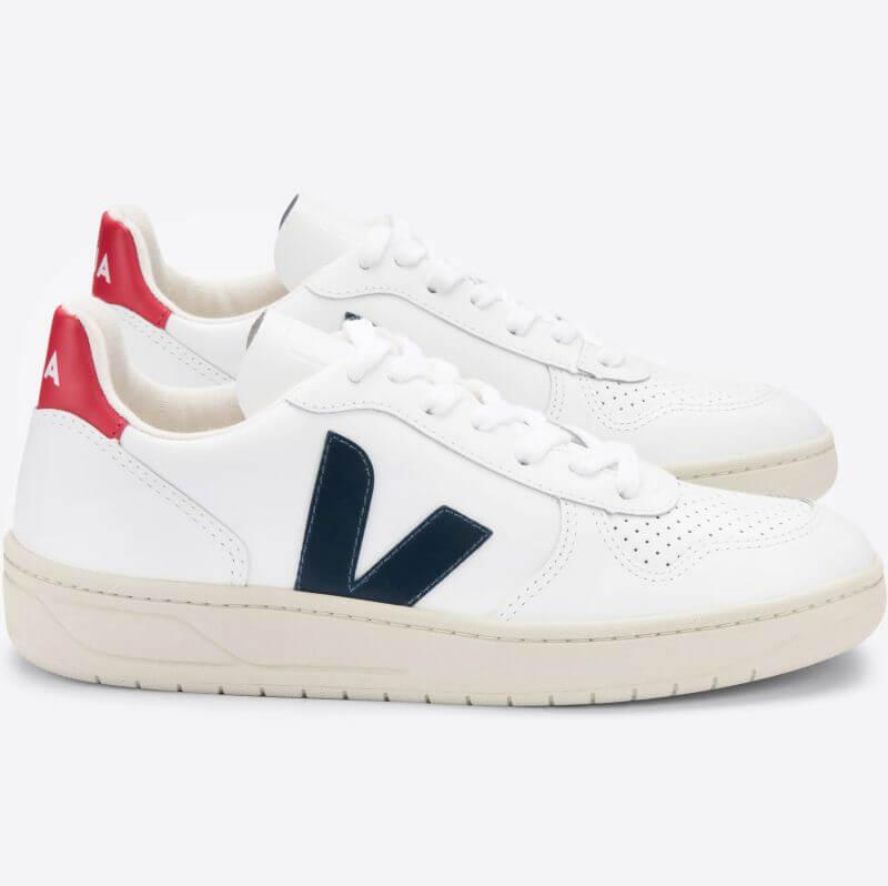 Damen-Sneaker V-10 Extra White/Nautico/Pekin