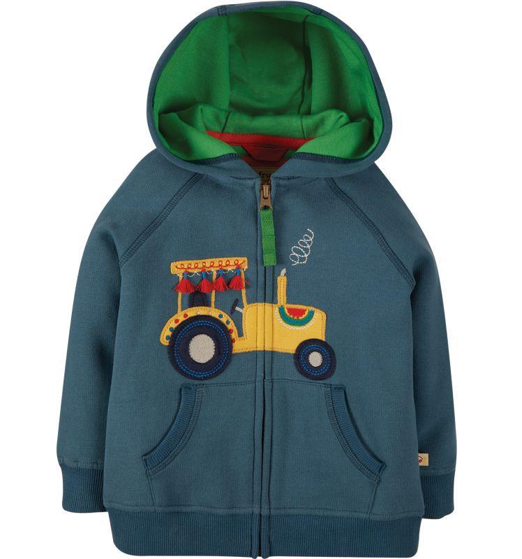 Kuschelige Kapuzen-Jacke mit Traktor