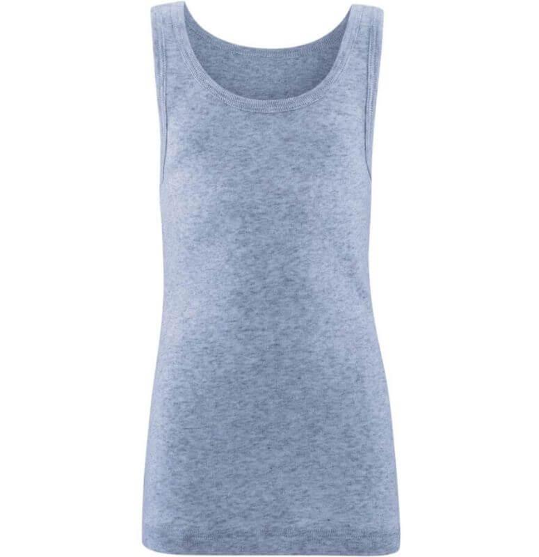 Weiches Jungs-Unterhemd blue melange