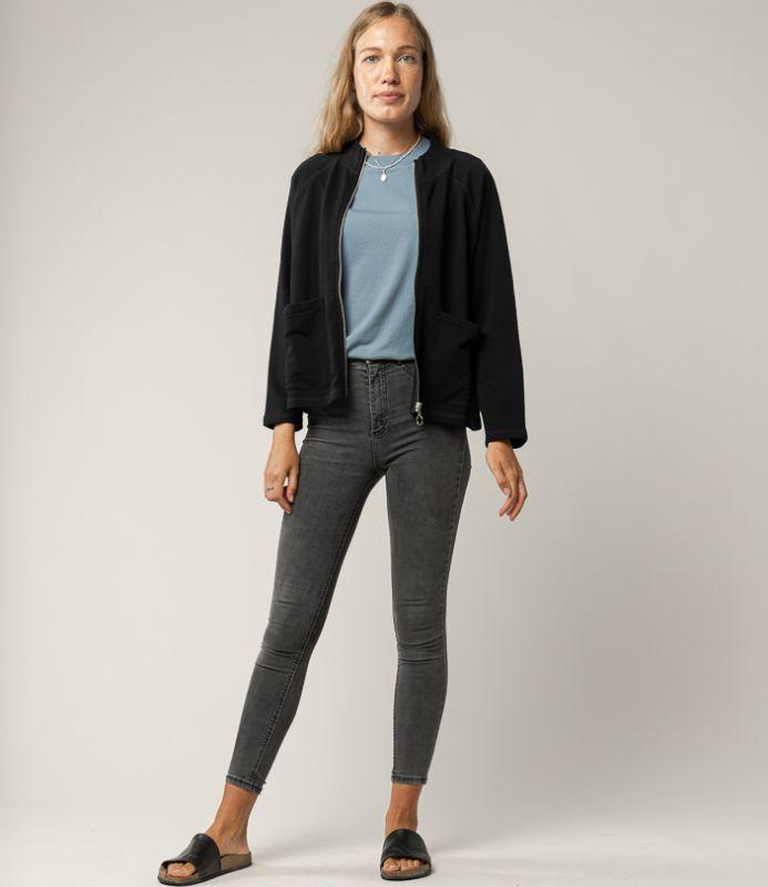 Schicke Sweatshirt-Jacke UMA in black