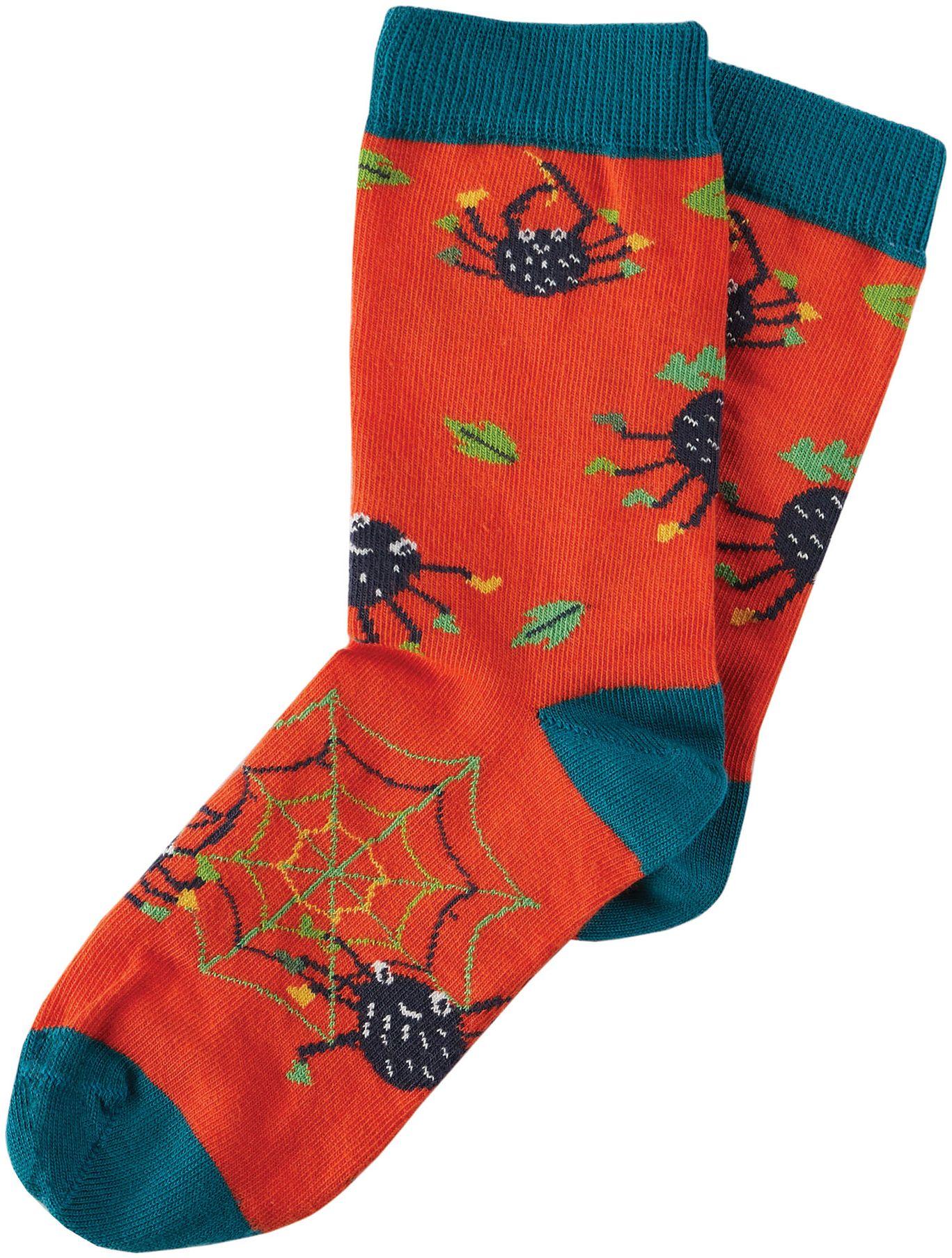 Kinder-Socken mit lustigen Spinnen