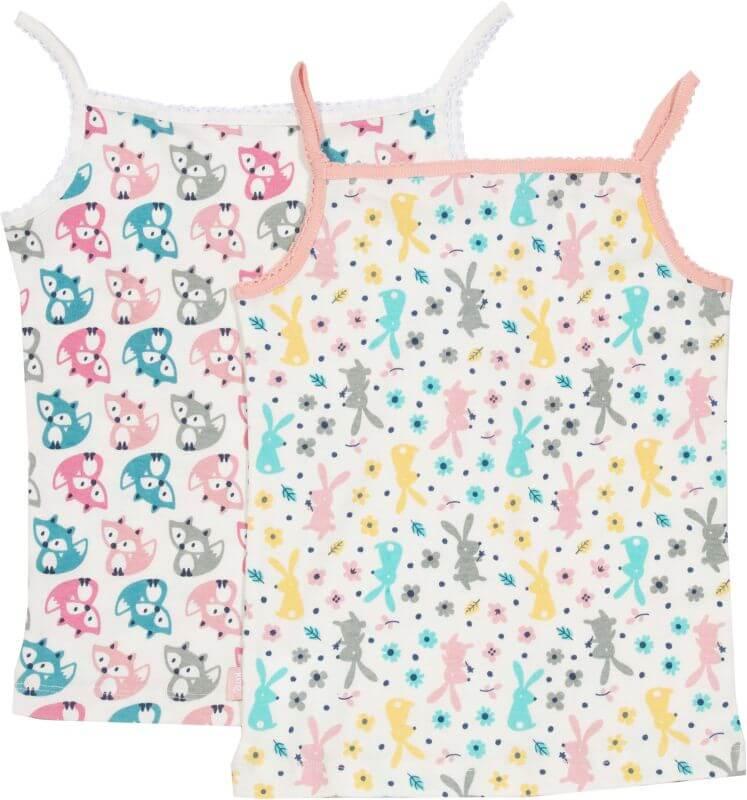 Süße Mädchen-Unterhemden im Doppelpack