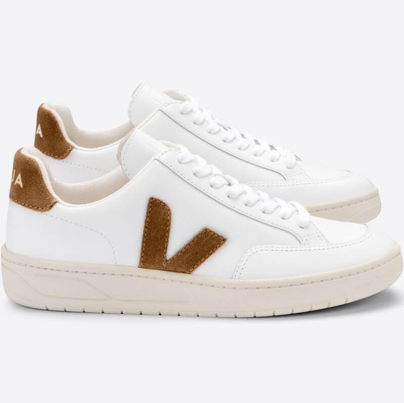 Damen-Sneaker V-12 Extra White Camel