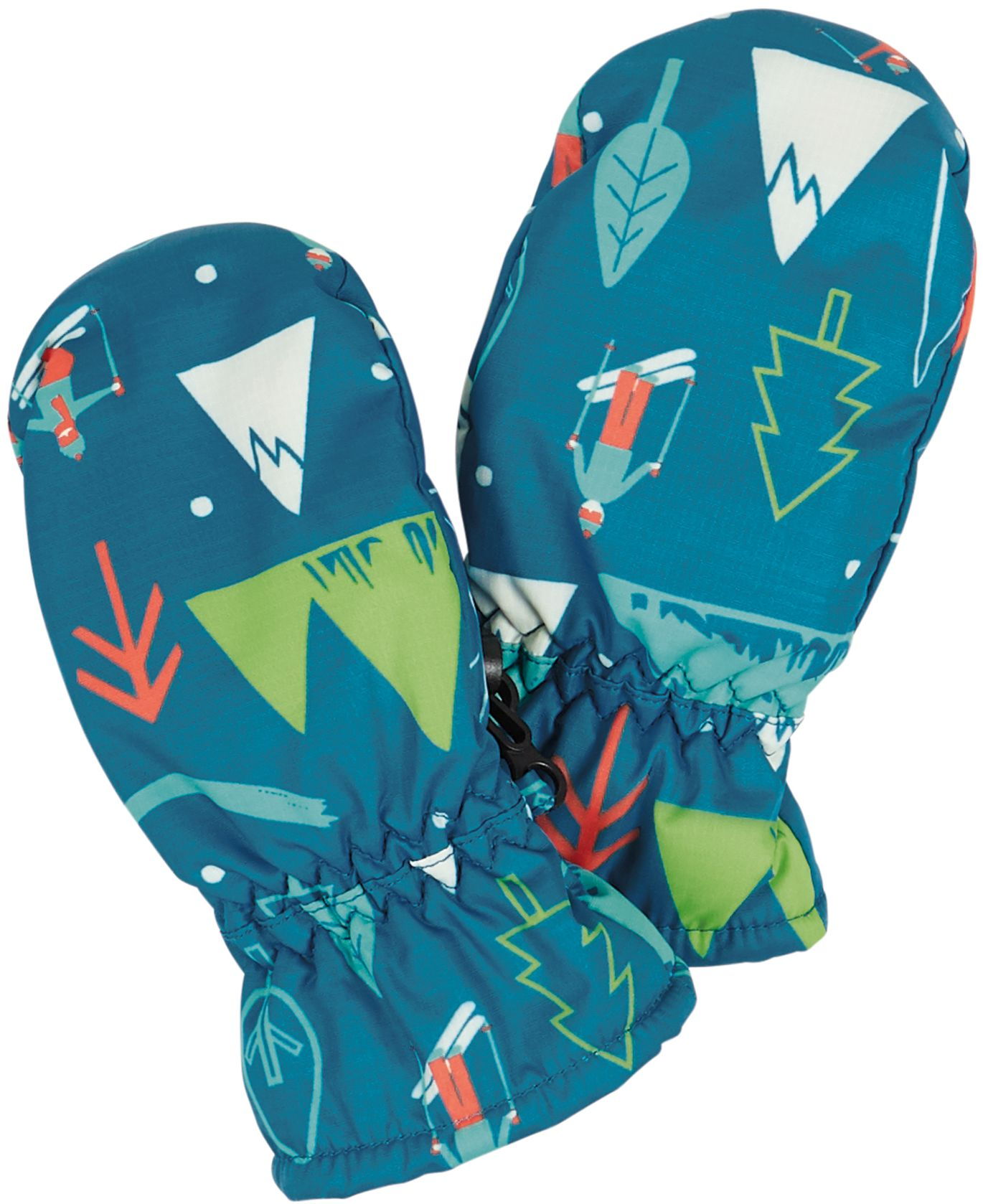 Kinder-Handschuhe mit Skiläufern