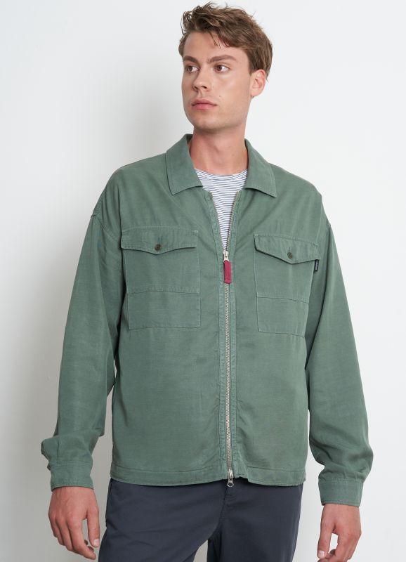 Modisches Herren-Overshirt light khaki