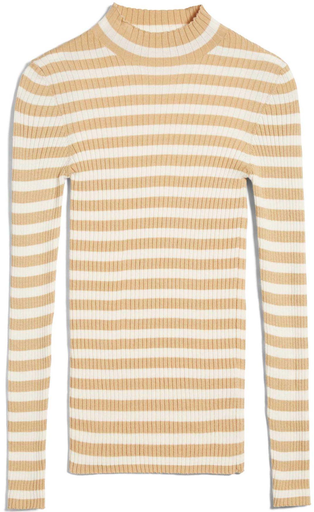 Damen-Pullover ALAANI STRIPED golden harvest/ oatmilk