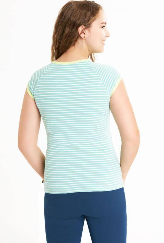 Gestreiftes Damen-Shirt in Mintgrün