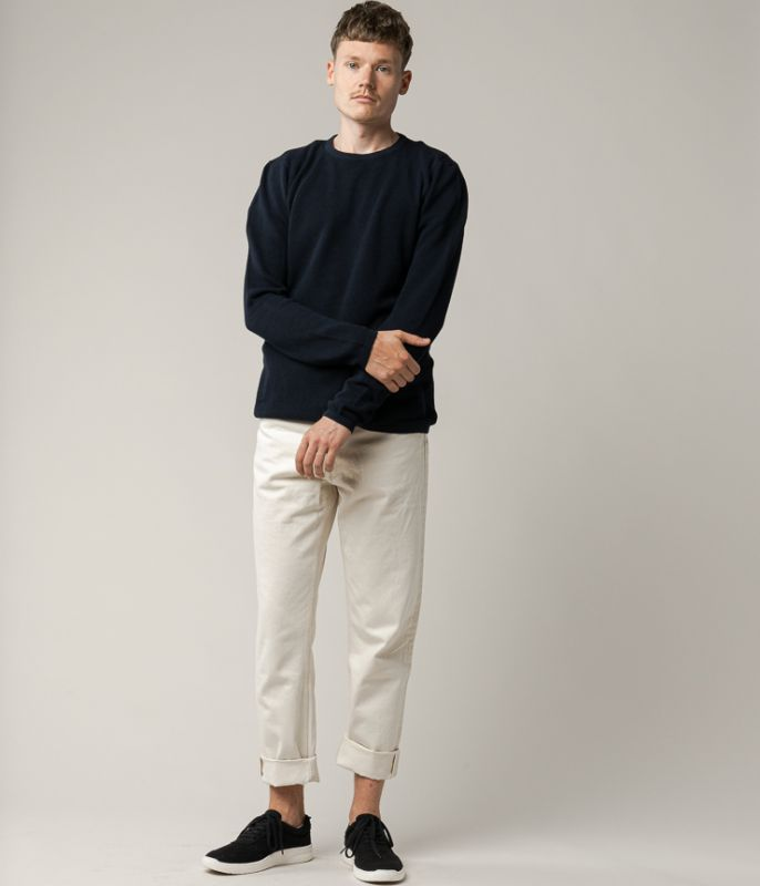 Klassischer Strick-Pullover YUVA in navy
