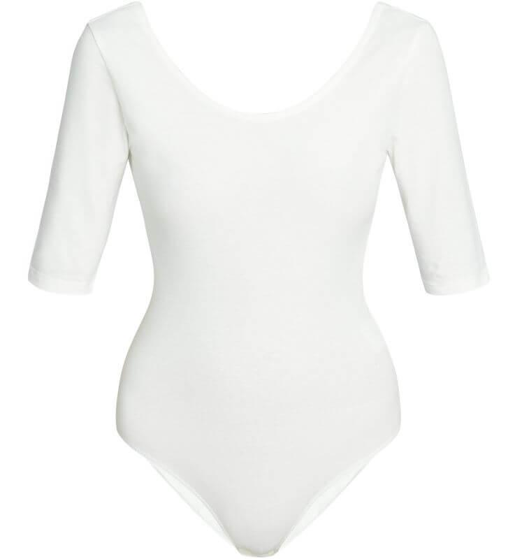 Bequemer Bodysuit Nicole für Damen in Weiß