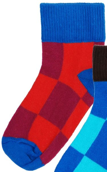 Mädchen-Socken rot kariert