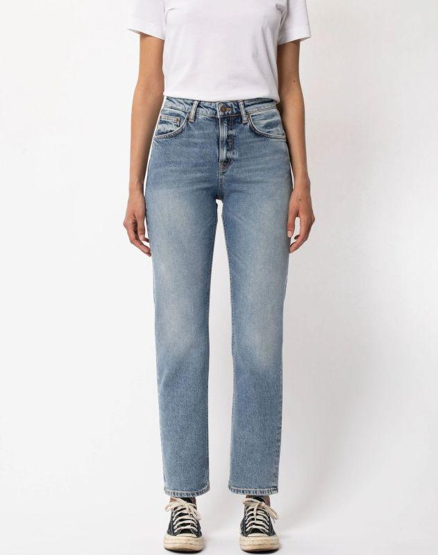 Damen-Jeans Straight Sally - Loving Twill