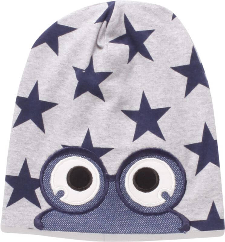 Graue Beanie-Mütze Star peep